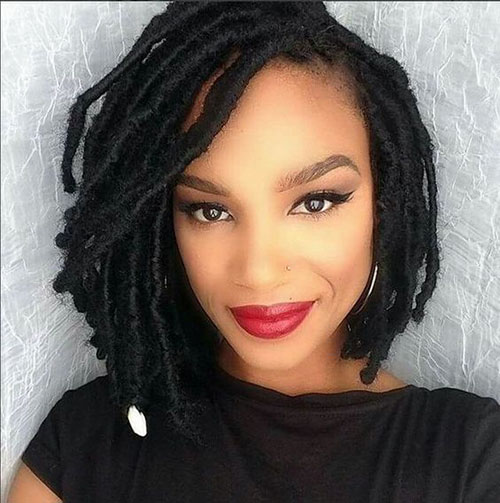 Faux Locs In A Bob