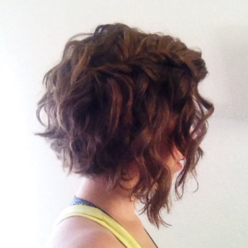 Curly Angled Bob Hairstyles
