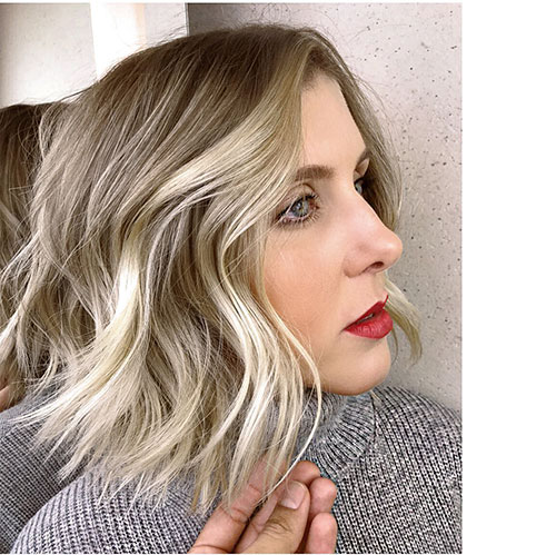 Textured Long Bob Haircut