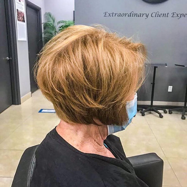 Layered Short Bob Hairstyle Pictures